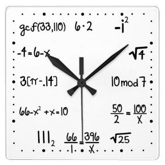 Gênio engraçado da matemática do questionário de relógios para paredes