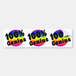 Gênio puro de 100 por cento no arco-íris de GLBT Adesivo Para Carro