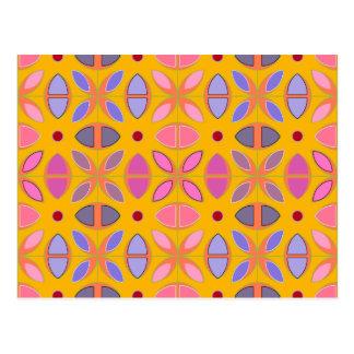 [GEO-OR-1] Padrões geométricos bonitos na laranja Cartão Postal