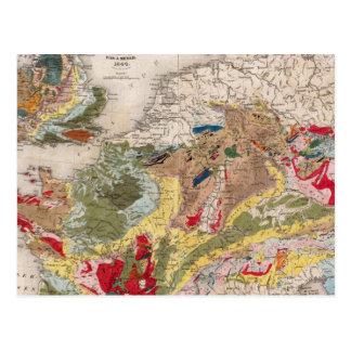 Geologia de Europa Cartão Postal