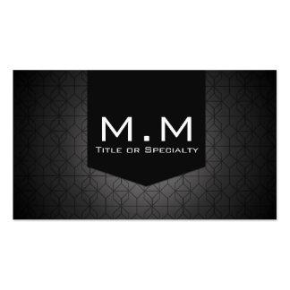 Geometric black modern cartão de visita