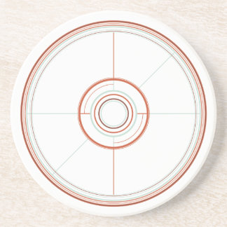 Geometric Wheel Porta Copos De Arenito
