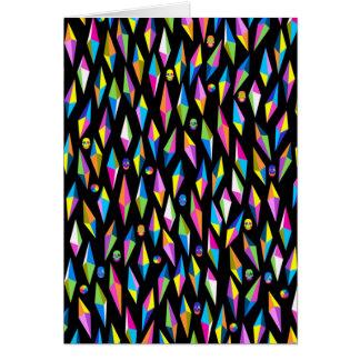 geometricas dos formas do abestrato cartão comemorativo