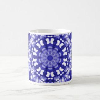 Geométrico azul da arte islâmica caneca de café