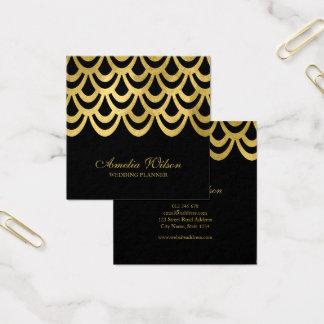 Geométrico corajoso do preto elegante do cartão de visitas quadrado