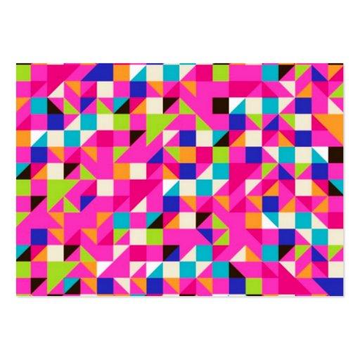 geometrico do padrão cartões de visita