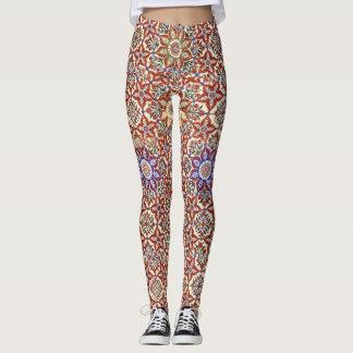 Geométrico islâmico e design floral leggings
