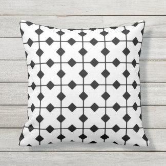 Geométrico moderno, diamantes - branco e preto travesseiros