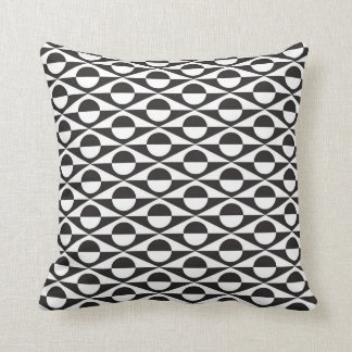 Geométrico moderno, preto e branco travesseiro