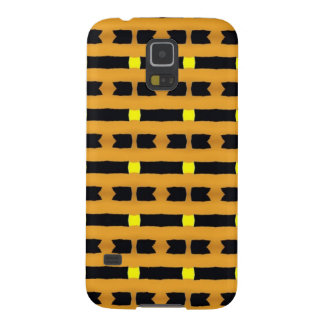 Geométrico no amarelo e no preto capinhas galaxy s5