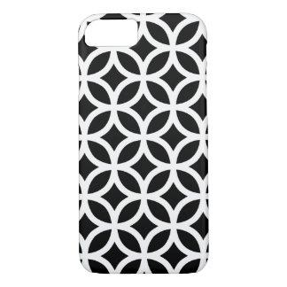 Geométrico preto e branco capa iPhone 7