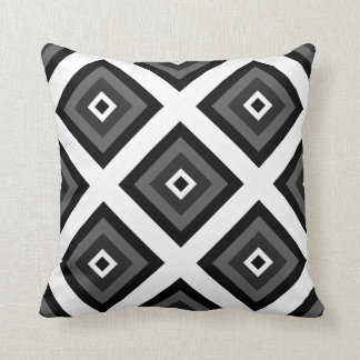 Geométrico preto e branco travesseiros