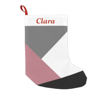 geometrics cor-de-rosa, preto, cinzento empoeirado bota de natal pequena