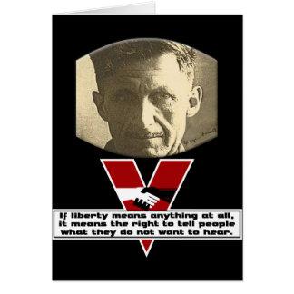 George Orwell - liberdade Cartão Comemorativo