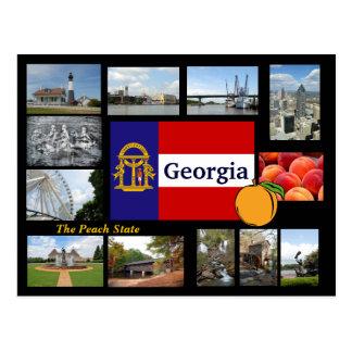 Geórgia o cartão do estado do pêssego cartão postal