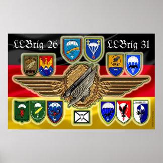 German brigada Airborne 26 31 and Pôster