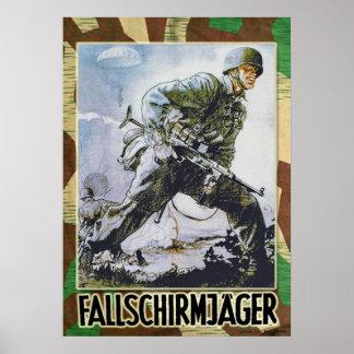 German pára-quedista poster