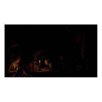 Gerrit Dou a escola de noite Cartão De Visita
