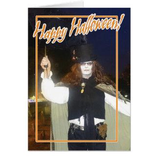 Ghoul feliz do Dia das Bruxas Cartão Comemorativo