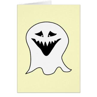 Ghoul. Preto e branco. Cartão Comemorativo