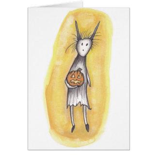 Ghoul só com abóbora cartão comemorativo