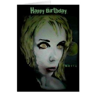 """""""Ghoul só da noite"""" em um cartão de aniversário"""