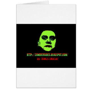 Ghoul verde - ZOMBIEWARES.Blogspot.Com Cartão Comemorativo