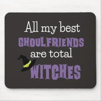 Ghoulfriend engraçado o Dia das Bruxas Mousepad