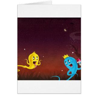 Ghouls legal de Ghoulie do abstrato Cartão Comemorativo