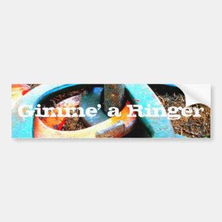Gimme presentes em ferradura de um lançamento da c adesivo para carro
