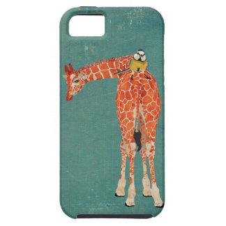 Girafa ambarino caixa azul pequena do pássaro capa de iPhone 5 Case-Mate