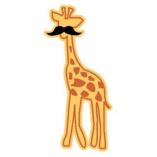 Girafa bonito com ímã/escultura do bigode fotoesculturas