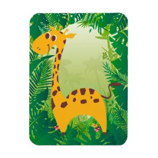 Girafa bonito foto com ímã retangular