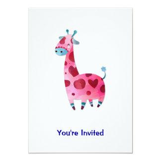 Girafa do amor convite 12.7 x 17.78cm