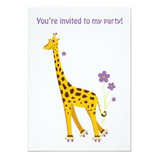 Girafa engraçado convite 12.7 x 17.78cm