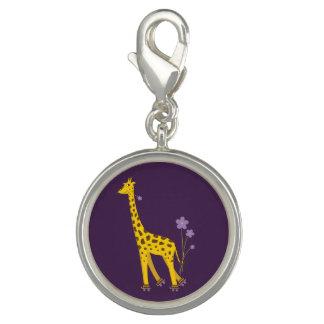Girafa engraçado de patinagem dos desenhos photo charms