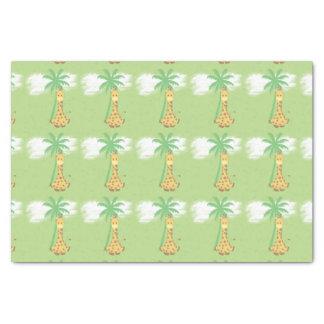 Girafa no papel de embrulho verde