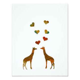 Girafas Convite 10.79 X 13.97cm