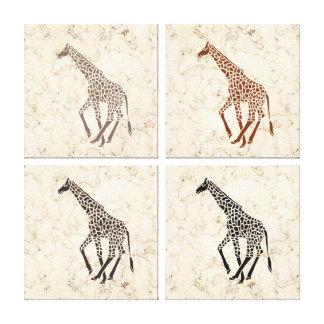 Girafas de mármore do falso de creme