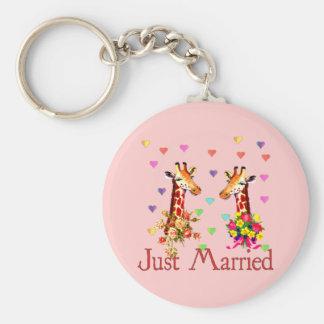 Girafas do casamento chaveiro