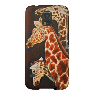 Girafas, nós arte do animal de três africanos capa para galaxy s5