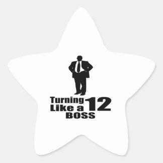 Girando 12 como um chefe adesito estrela