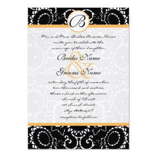 Girassóis pretos de Beesax que Wedding o convite