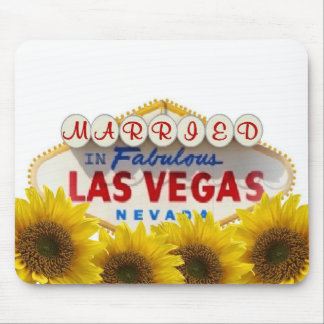 Girassol CASADO em Las Vegas fabuloso Mousepad