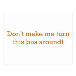 Gire este ônibus cartão postal