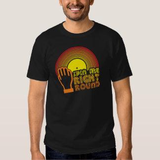 Gire-me círculo direito camisetas