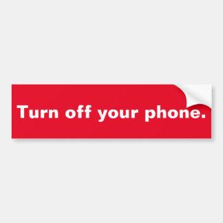 Gire o telefone fora de 2 adesivo para carro