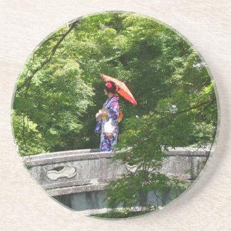 Girl Japão Porta Copos De Arenito