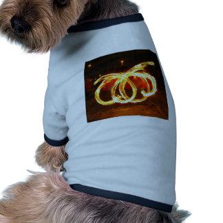 Giro do fogo - funcionarios do dragão camisas para cães