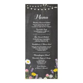 """Giz da recepção de casamento do menu das flores convite 10.16"""" x 23.49cm"""